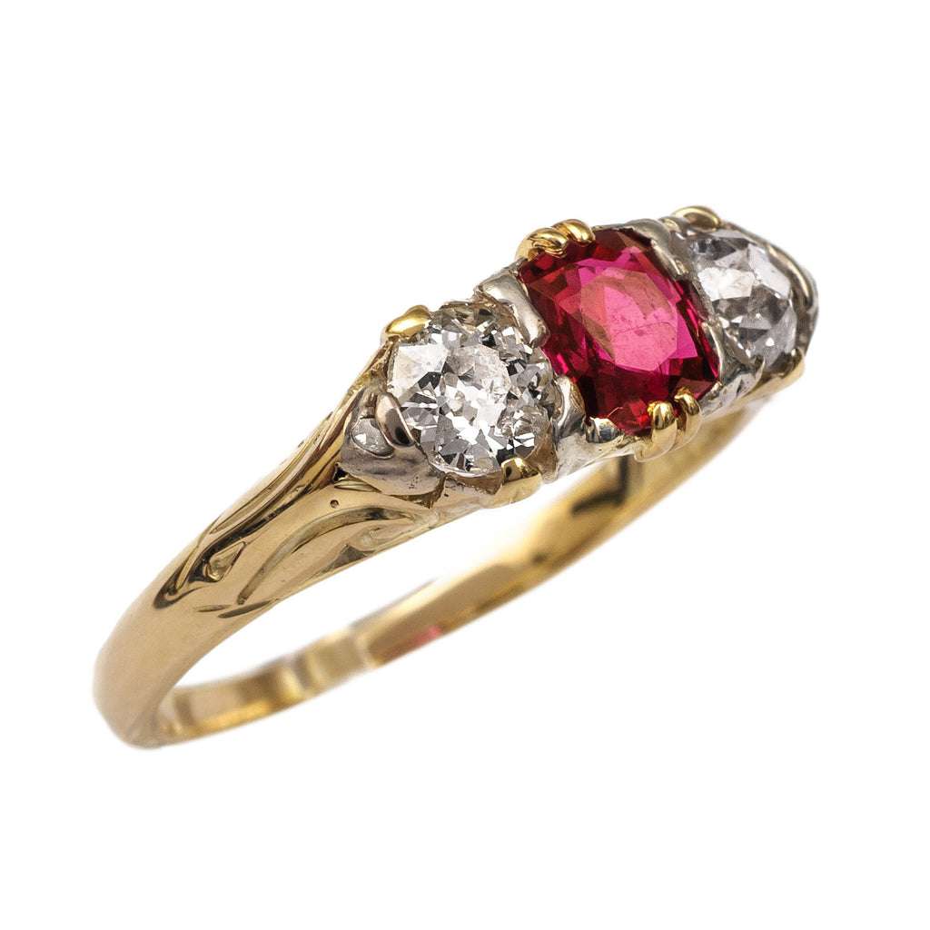 Glorious Victorian Ruby And Diamond Ring Fidra Jewellers