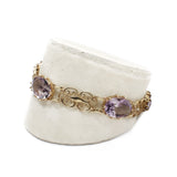 Lovely Lilac Amethyst Filigree Bracelet