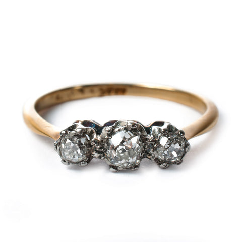 Vintage Diamond Trilogy Ring
