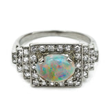 Art Deco Opal Diamond Ring