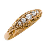 Decorative antique diamond ring