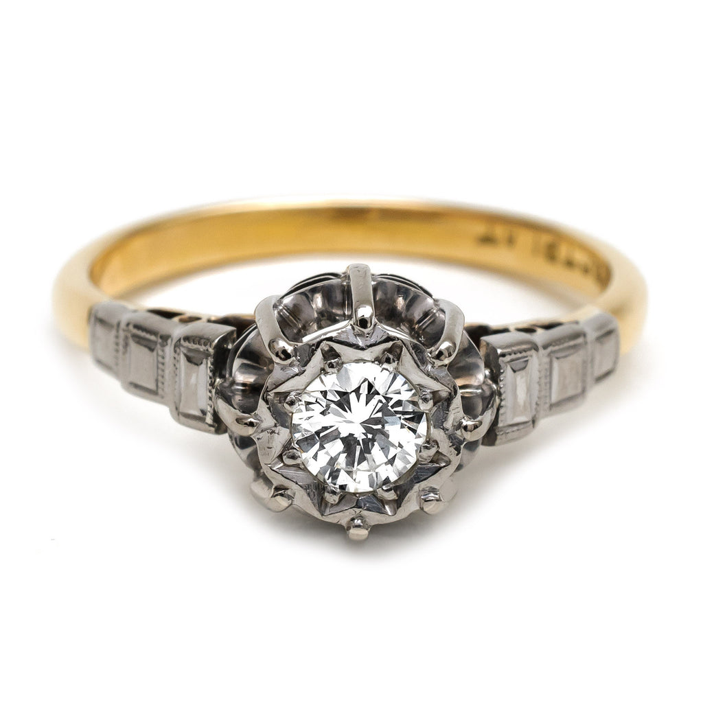 wedding rings com spectacular deco solitaire ring fidra jewellers 1021