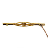 Elegant Edwardian Sapphire and Pearl Bar Brooch