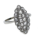 Art Deco Antique Diamond Cluster Ring