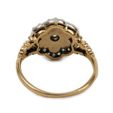 Flower Power!! Edwardian Pearl Diamond Cluster Ring