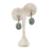 Vintage Opal Diamond Earrings