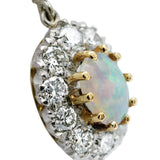 Glamorous Vintage Opal and Diamond Earrings