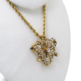 Antique pearl diamond 15ct pendant