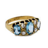 Edwardian Aquamarine, Diamond & 18ct Ring