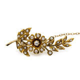 Pearl Diamond Brooch
