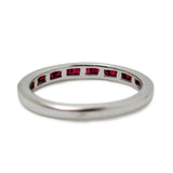 Ruby White Gold Band Eternity Ring