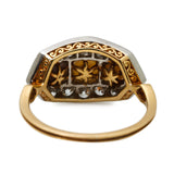 Elegant Antique Natural Pearl and Diamond Panel Ring