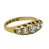 five stone diamond antique Victorian ring