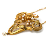 Magnificent Art Nouveau Pearl & Diamond Necklace