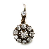 Luscious Victorian Diamond Cluster Earrings