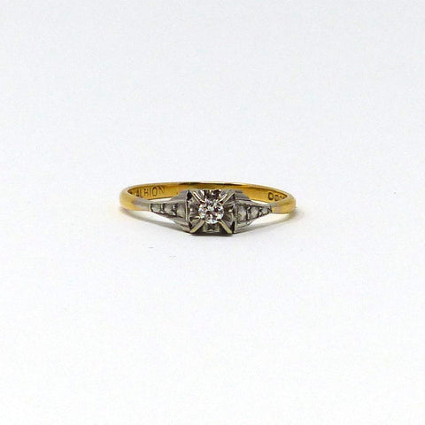 Art Deco style diamond solitaire