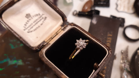 Splendid Vintage Diamond Cluster