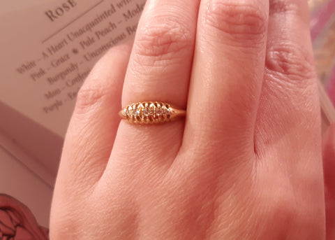 Date 1919 18ct Gold & Diamond Ring