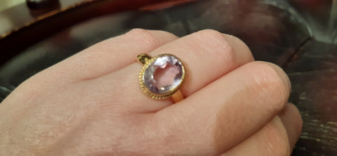 Beautiful Oval Amethyst Ring