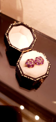 Pretty Amethyst Cluster Earrings