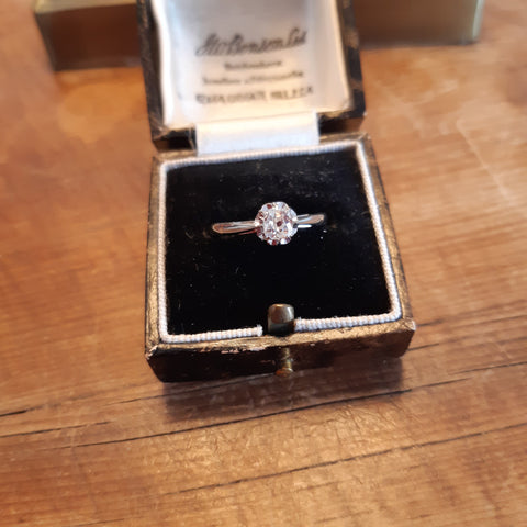 Antique Old Cut Diamond Solitaire