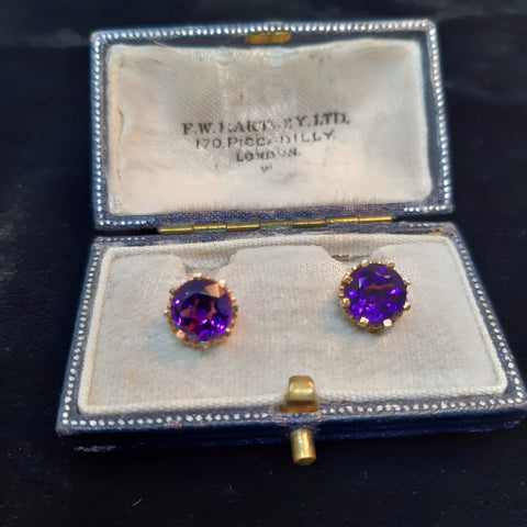 Velvet Amethyst Earrings