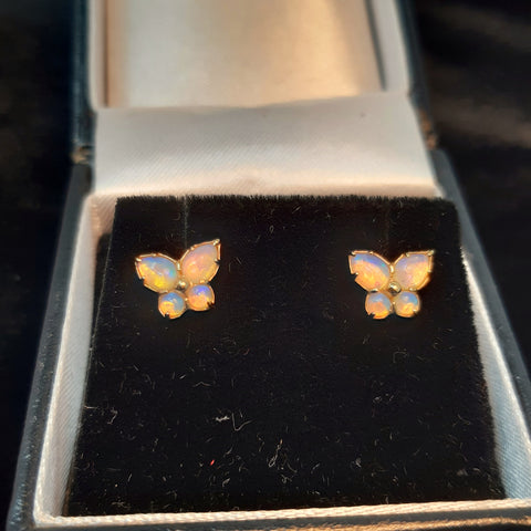 Flighty 18ct Opal Butterfly Earrings