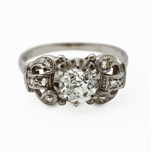 Amazing Art Deco Diamond Engagement Ring