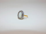 Amazing Antique Opal and Diamond Cluster Ring