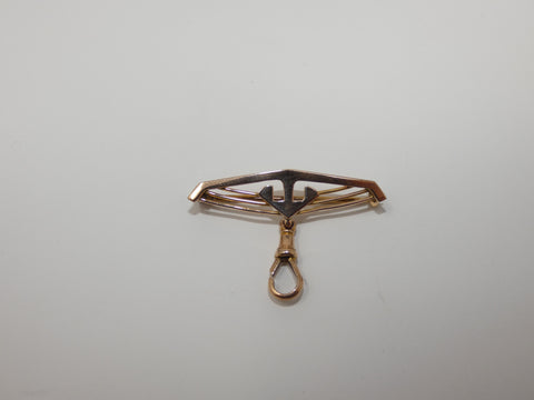 Lovely Little Antique Gold Brooch Fob Holder