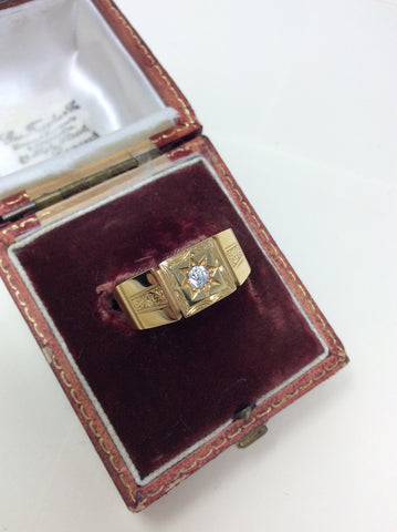 Perfect Gents Diamond Set Signet Ring