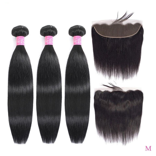 FABC Straight Hair Bundles With Frontal