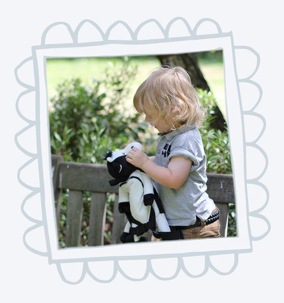 Dusty the Cow Toddler Backpack with Reins