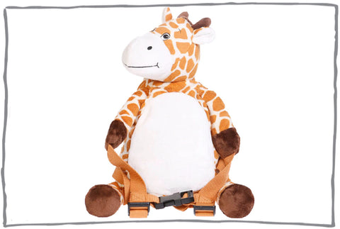 Raffy the Giraffe Toddler Backpack with Reins