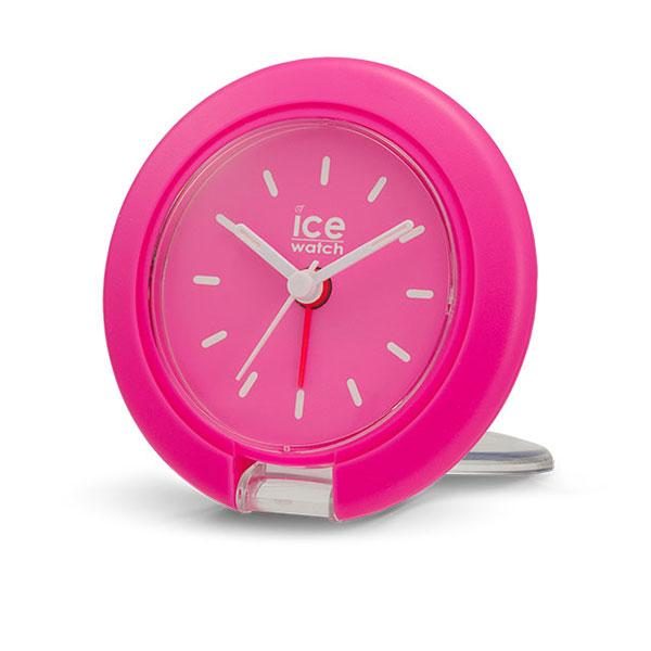 Travel Clock Neon Pink