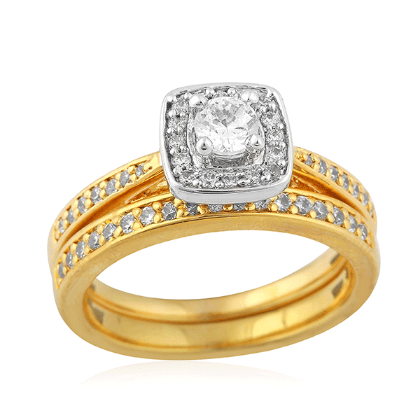 18ct Gold Classic Cushion Shape Engagement Ring