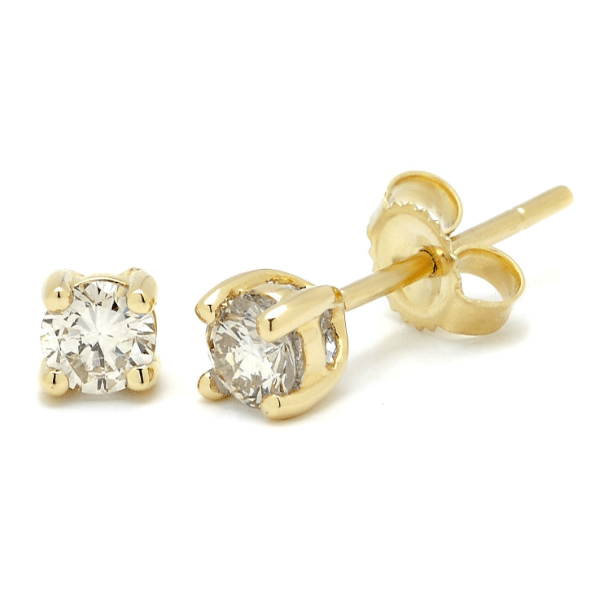 18ct Yellow Gold 0.10ct TDW Diamond Earrings