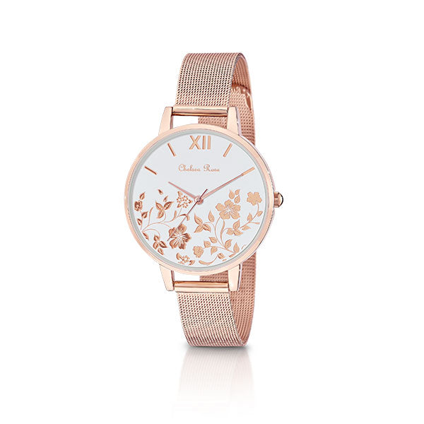 Chelsea Rose Rose Foil Poppy Watch