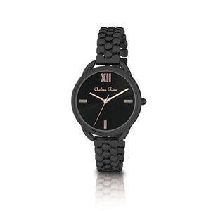 Chelsea Rose Black Peony Watch