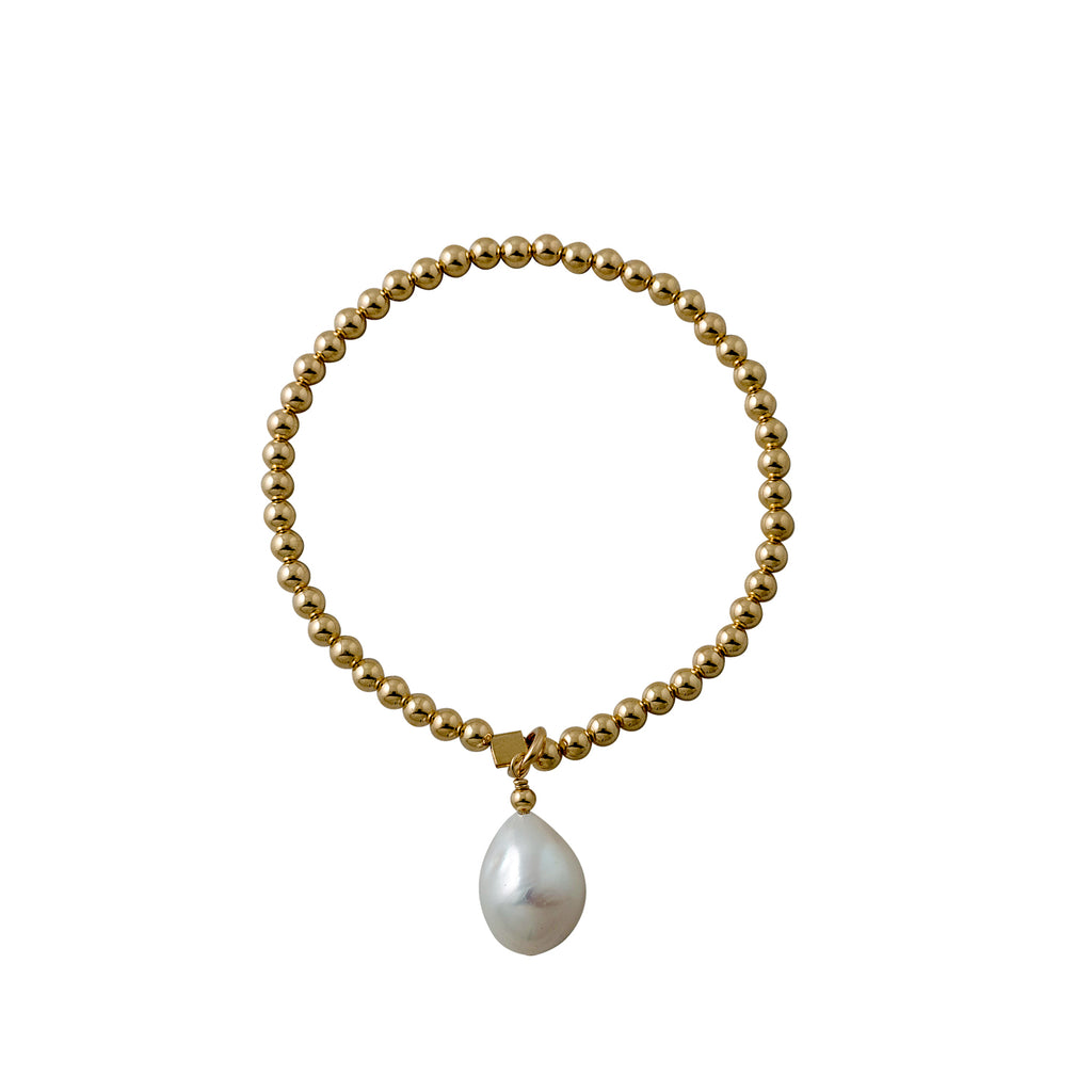Von Treskow Stretchy Bracelet with Baroque Pearl