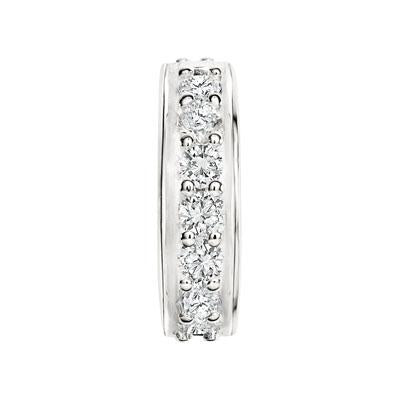 CANDID SS stopper with white cubic zirconia