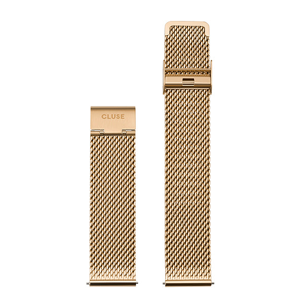 CLUSE 20mm Strap Gold Mesh