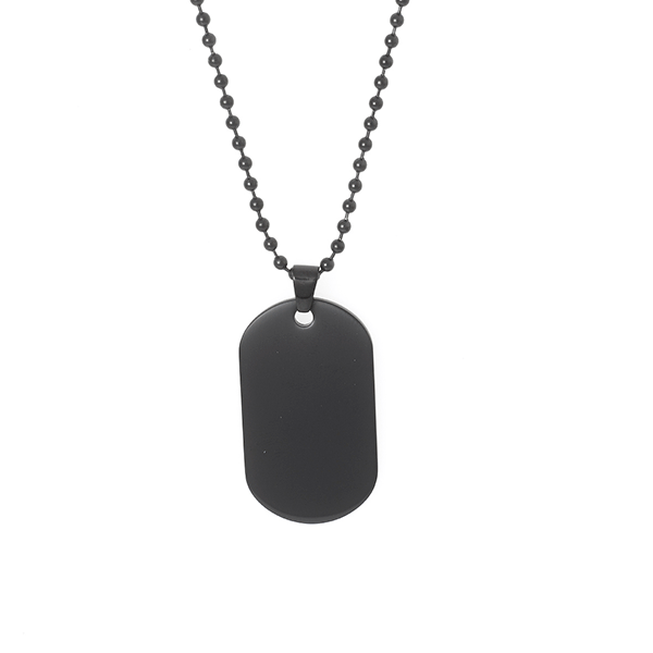 Cudworth IP Black Stainless Steel Dog Tag