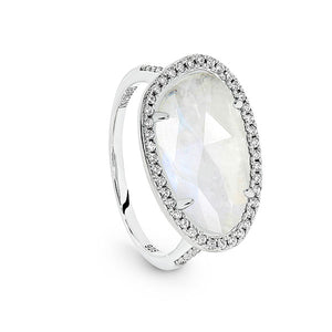 GEORGINI SEMI PRECIOUS RAINBOW MOONSTONE RING