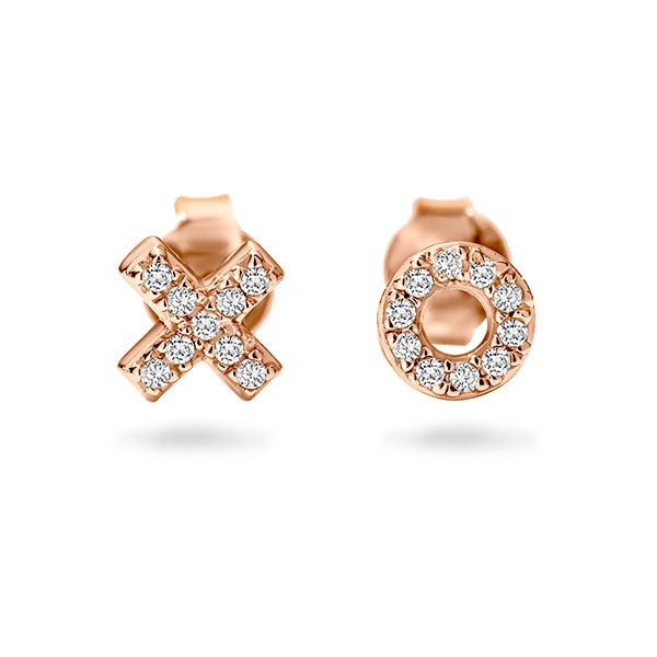 Georgini Kiss Hug Rose Gold Stud