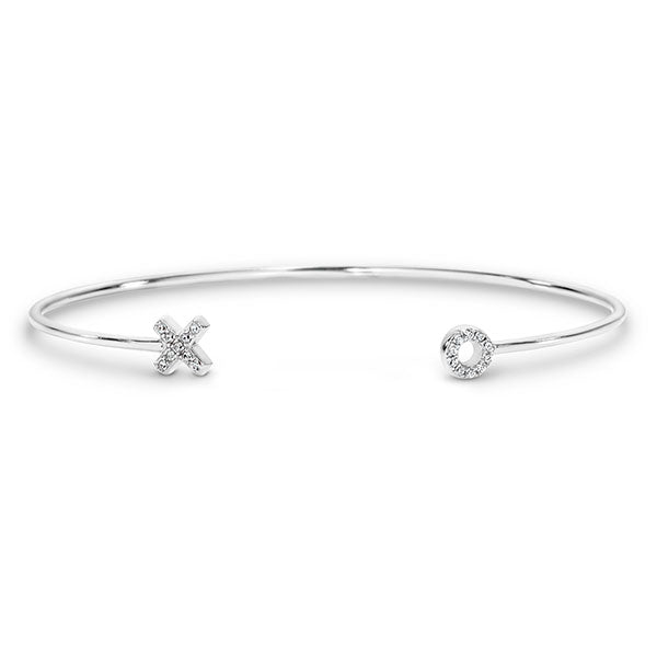 Georgini Kiss Hug Silver Bangle