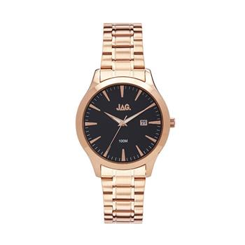 Jag Dan II Black Dial, Rose Gold Bracelet Watch