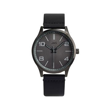 Jag Mitchell Grey Dial Black Strap Watch