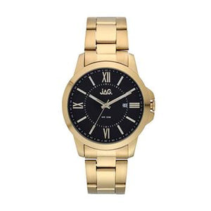 Jag Xavier Black Dial Yellow Gold Watch