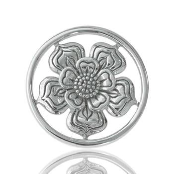 Nikki Lissoni Lovely Flower, Silver Plated Coin